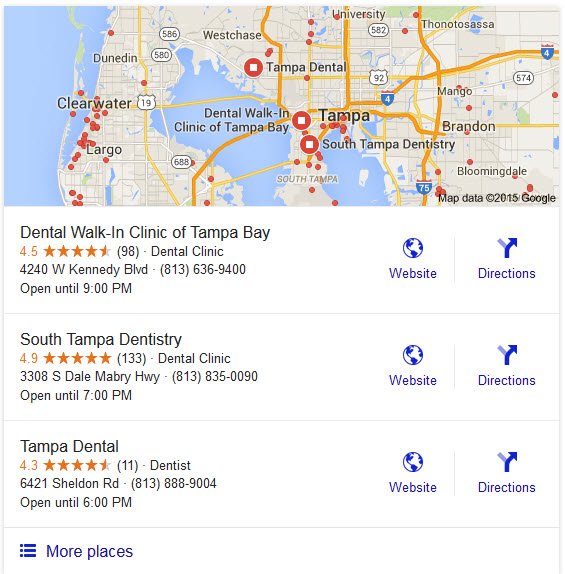 dentist local seo